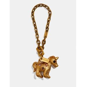Coach Unicorn Uni 🦄 jeweled bag charm gold brass